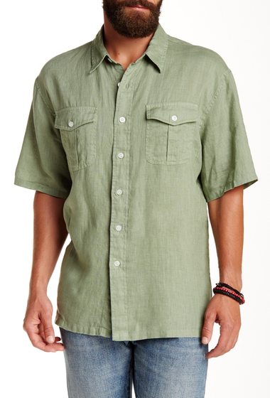 Imbracaminte Barbati Pendleton Morrison Regular Fit Linen Camp Shirt OLIVE