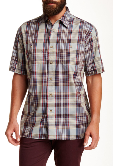Imbracaminte Barbati Pendleton Short Sleeve Santiam Regular Fit Shirt GREY