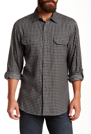 Imbracaminte Barbati Pendleton Fitted Fairbanks Regular Fit Shirt BLACK