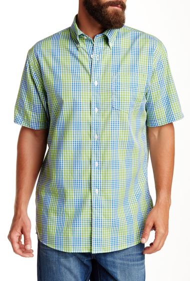 Imbracaminte Barbati Pendleton Short Sleeve Fremont Regular Fit Shirt BLUGREEN
