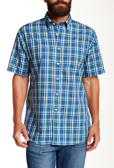 Imbracaminte Barbati Pendleton Fremont Trim Fit Plaid Short Sleeve Sport Shirt GREEN