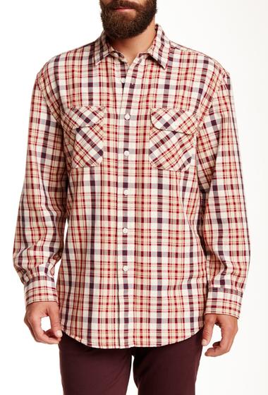 Imbracaminte Barbati Pendleton Beach Shack Twill Long Sleeve Regular Fit Shirt RED-TAN