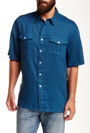 Imbracaminte Barbati Pendleton Morrison Regular Fit Linen Camp Shirt NAVY