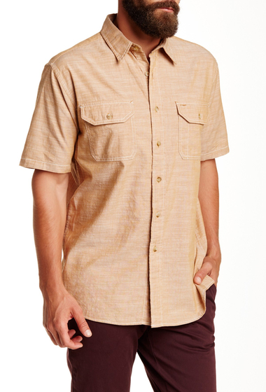 Imbracaminte Barbati Pendleton Short Sleeve Warren Chambray Regular Fit Shirt RUST