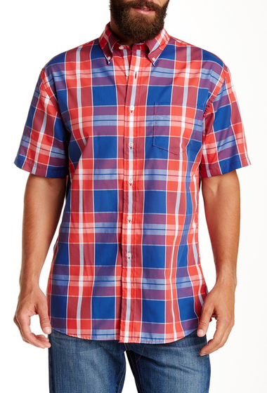 Imbracaminte Barbati Pendleton Short Sleeve Fremont Regular Fit Shirt BLUE-RED