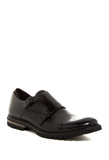 Incaltaminte Barbati Kenneth Cole New York Click-Y Cap Toe Double Monk Shoe Black