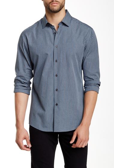 Imbracaminte Barbati Vince Camuto Long Sleeve Slim Fit Shirt BLUE-BLACK MINI CHECK