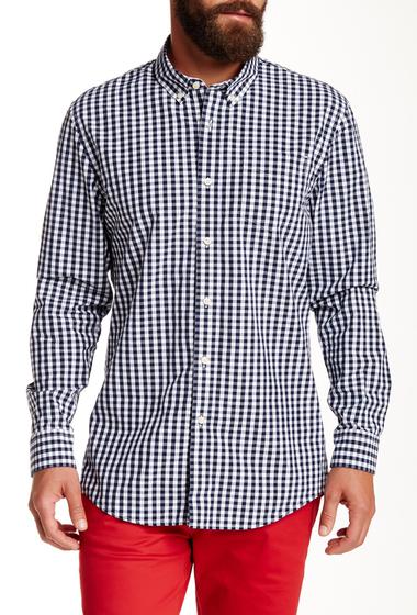 Imbracaminte Barbati JACHS Long Sleeve Plaid Madison Fit Shirt BLACK IRIS
