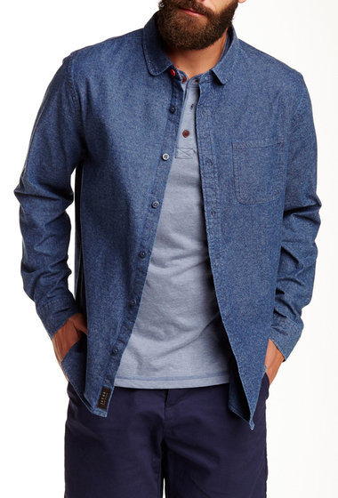 Imbracaminte Barbati JACHS Long Sleeve Classic Fit Shirt DARK INDIGO