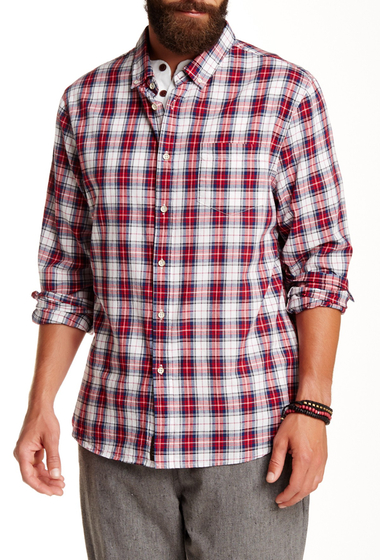 Imbracaminte Barbati JACHS Long Sleeve Classic Fit Plaid Shirt RED