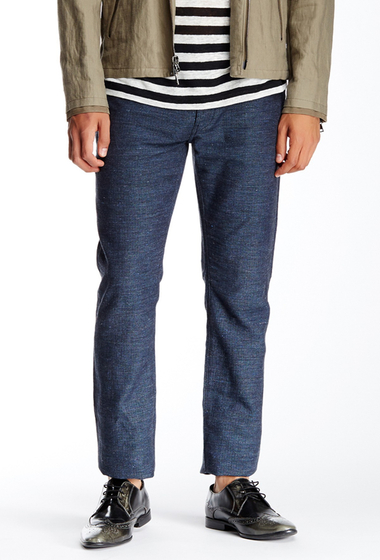 Imbracaminte Barbati John Varvatos Collection Herringbone Slim Fit Jean SAPPHIRE