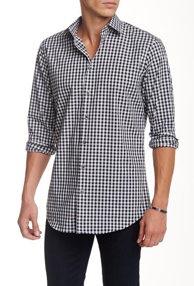 Imbracaminte Barbati 14th Union Spread Collar Trim Fit Dress Shirt BLACK