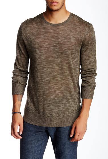 Imbracaminte Barbati John Varvatos Collection Linen Crew Neck Sweater LICHEN GRE