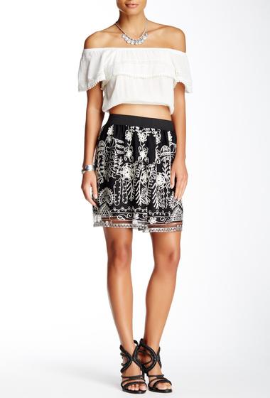 Imbracaminte Femei Anna Sui Chainstitch Embroidered Skirt BLACK MULTI
