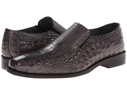 Incaltaminte Barbati Stacy Adams Parisi Gray Crocodile Hornback Print Leather