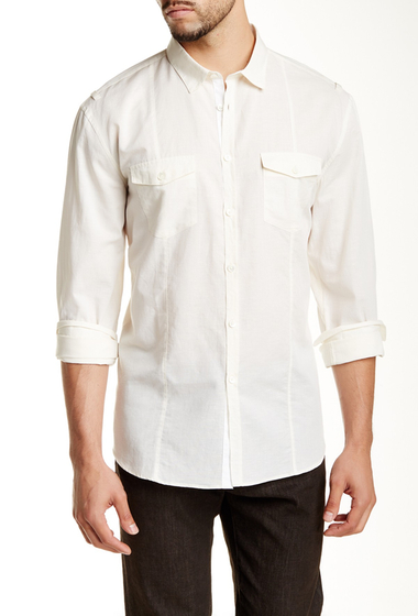 Imbracaminte Barbati John Varvatos Collection Long Sleeve Trim Fit Shirt EGG SHELL