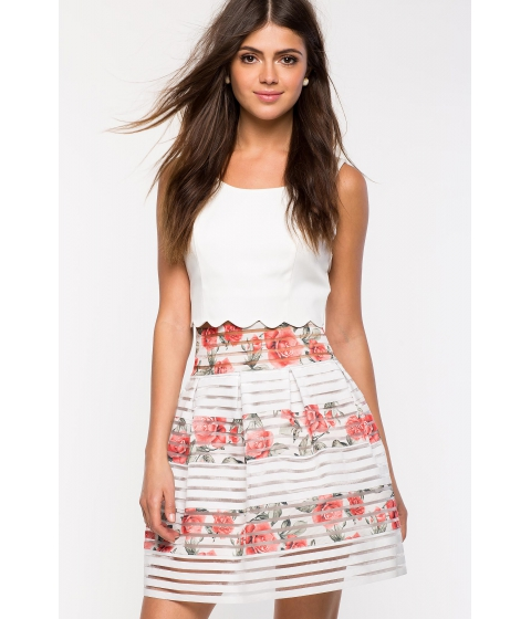 Imbracaminte Femei CheapChic June Flare Skirt Orange Prt