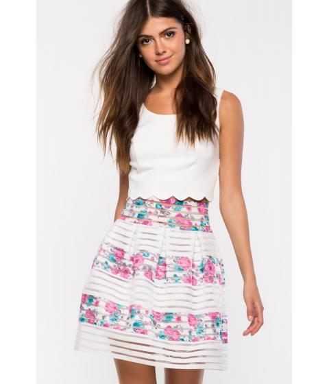 Imbracaminte Femei CheapChic June Flare Skirt FuchsiaPink Prt