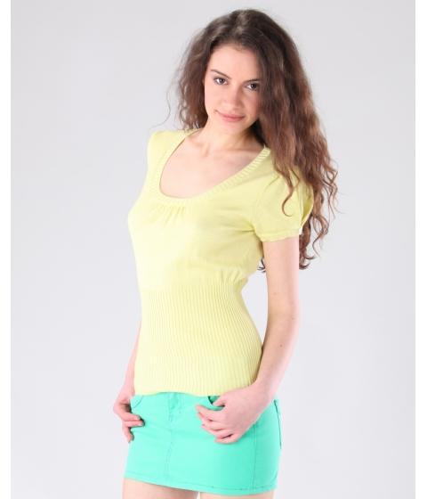 Imbracaminte Femei Be You Bluza galbena model ajurat Multicolor