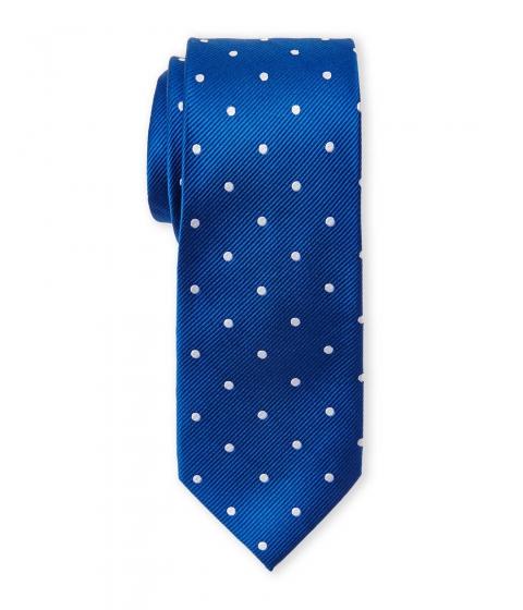 Accesorii Barbati Pierre Cardin Silk Polka Dot Slim Tie Royal White