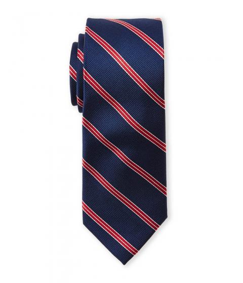 Accesorii Barbati Pierre Cardin Silk Stripe Slim Tie Navy Red