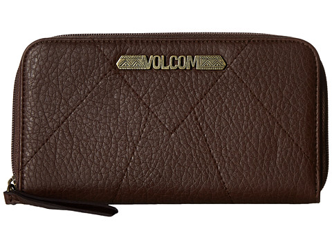 Genti Femei Volcom Pinky Swear Zip Wallet Brown