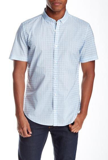 Imbracaminte Barbati Calvin Klein Short Sleeve Digital Square Shirt PLCD BLE