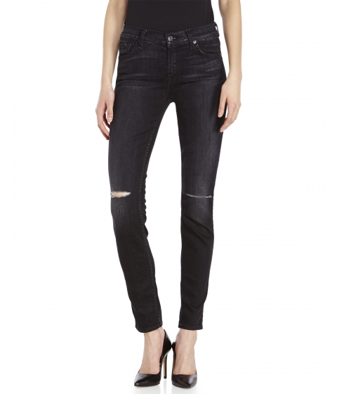 Imbracaminte Femei 7 For All Mankind The Skinny Whiskered Jeans Black