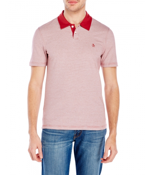Imbracaminte Barbati Original Penguin Feeder Stripe Polo Brick Red