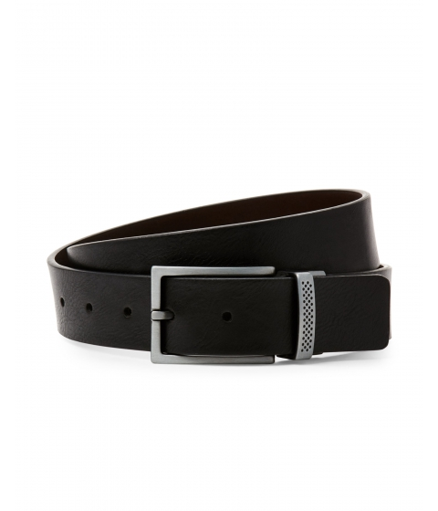 Accesorii Barbati Kenneth Cole Reaction Logo Keeper Reversible Belt Black Brown