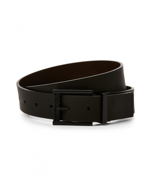 Accesorii Barbati Kenneth Cole Reaction Textured Reversible Belt Black Brown