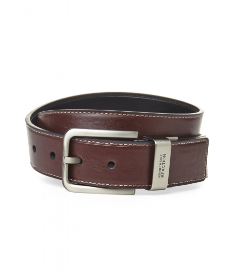 Accesorii Barbati Kenneth Cole Reaction Stitched Reversible Belt in Brown Black Brown Black