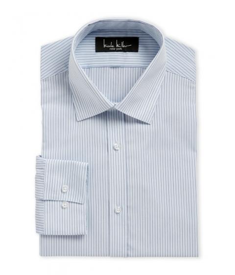 Imbracaminte Barbati Nicole Miller Crystal Blue Stripe Slim Fit Dress Shirt 468crystlblue