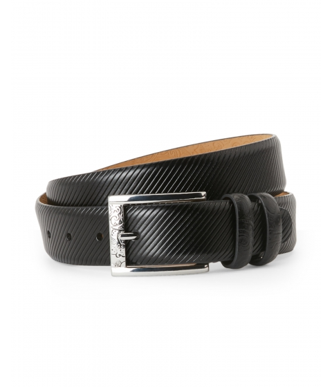Accesorii Barbati Robert Graham Black Martin Textured Belt Black
