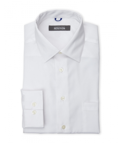 Imbracaminte Barbati Kenneth Cole Reaction White Twill Slim Fit Non-Iron Dress Shirt White