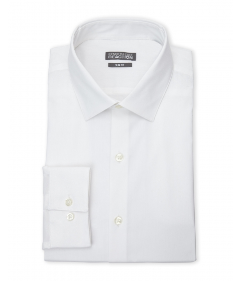Imbracaminte Barbati Kenneth Cole Reaction White Slim Fit Non-Iron Dress Shirt White