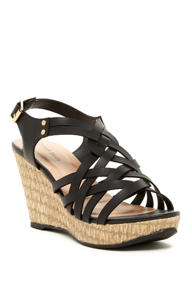 Incaltaminte Femei Top Guy Lucky Strappy Woven Wedge Sandal BLACK