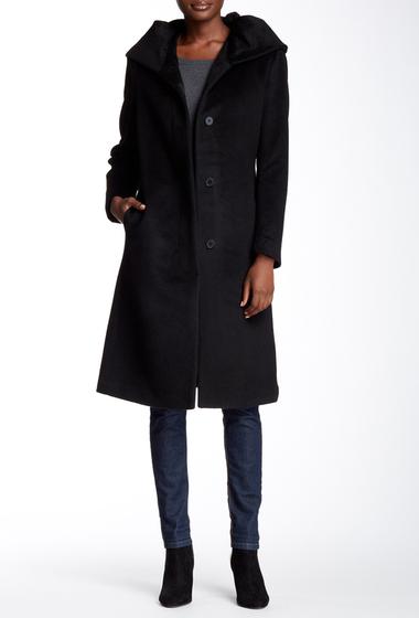 Imbracaminte Femei Cole Haan Wool Blend Oversize Collar Coat BLACK