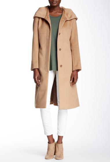 Imbracaminte Femei Cole Haan Wool Blend Oversize Collar Coat CAMEL