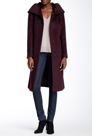Imbracaminte Femei Cole Haan Wool Blend Oversize Collar Coat WINE