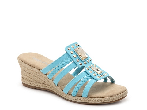 Incaltaminte Femei Easy Street Bazinga Wedge Sandal Turquoise