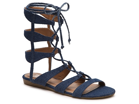 Incaltaminte Femei GC Shoes Amazon Denim Gladiator Sandal Denim Blue