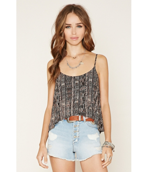 Imbracaminte Femei Forever21 Layered Abstract Print Cami Blackpink