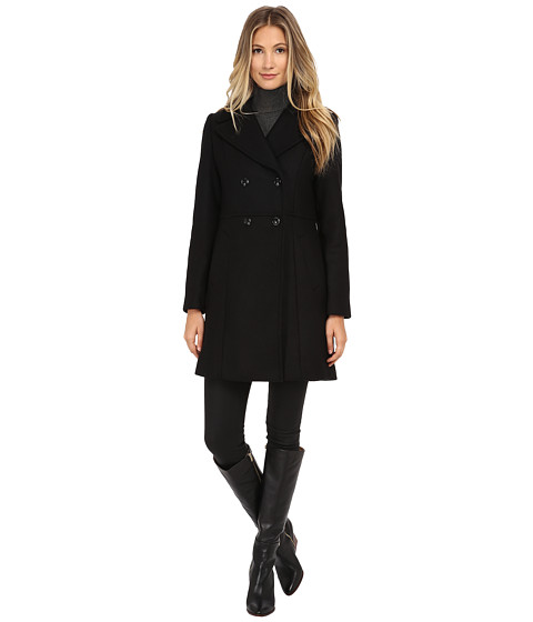 Imbracaminte Femei Cole Haan Double Breasted Coat with Knotch Collar Black