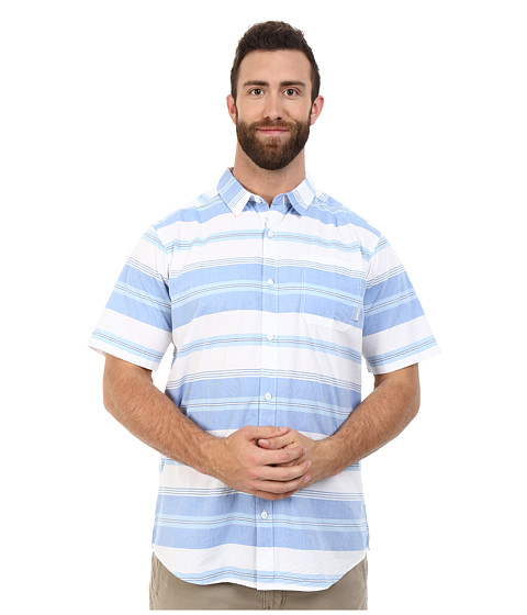 Imbracaminte Barbati Columbia Plus Size Thompson Hilltrade II Yarn Dye Shirt Super Blue Stripe