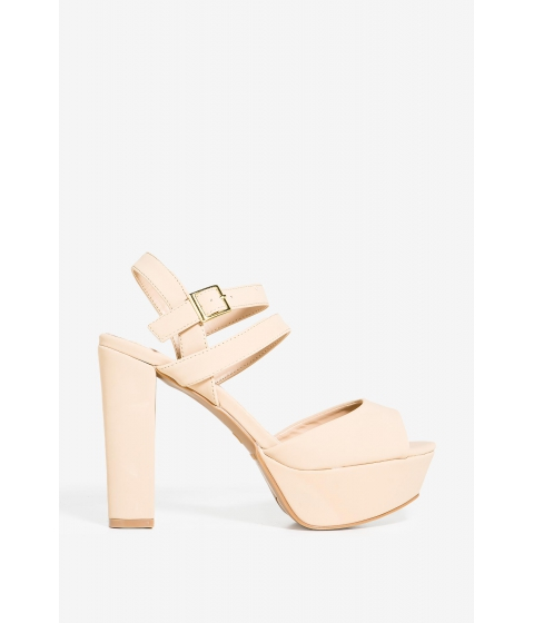 Incaltaminte Femei CheapChic Now Or Never Platform Nude