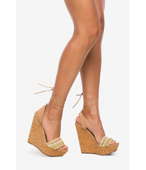 Incaltaminte Femei CheapChic Vivi-39 In Luck Wedge Nude