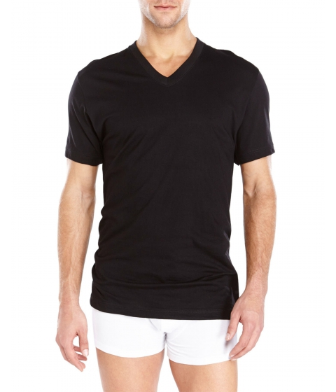 Imbracaminte Barbati 2(X)IST 3-Pack Essential V-Neck T-Shirts Black