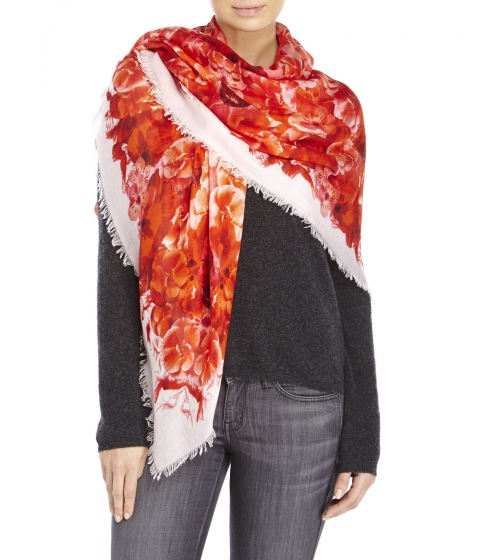 Accesorii Femei Alexander McQueen Printed Scarf Pink Floral