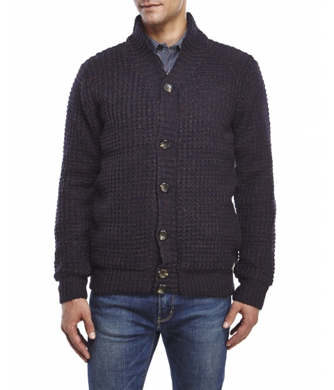 Imbracaminte Barbati American Stitch Waffle Knit Cardigan Navy Brown